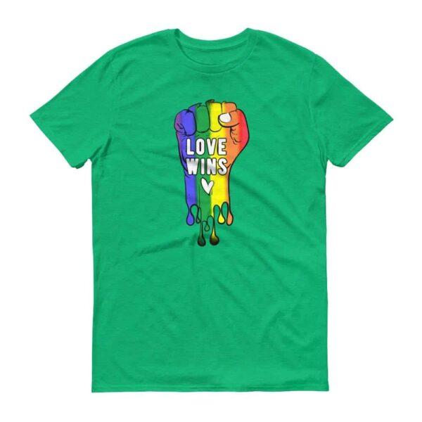 LOVE WINS Pride Tshirt Green