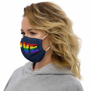 Rainbow Love Pride LGBTQ Face Mask