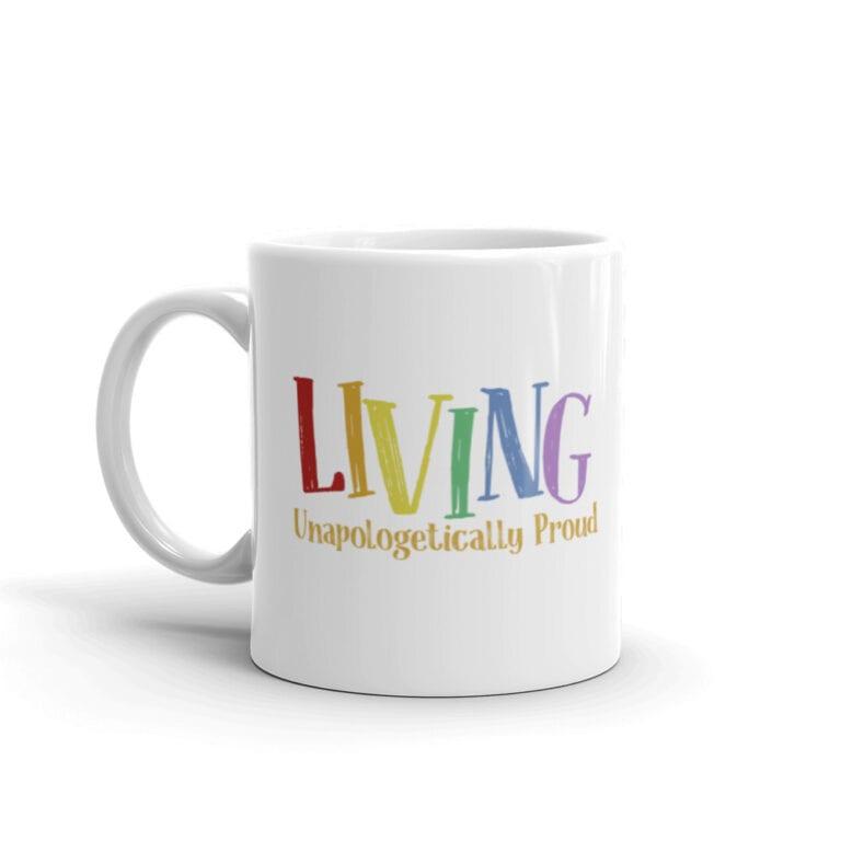 Living Proud LGBTQ Pride Coffee Mug