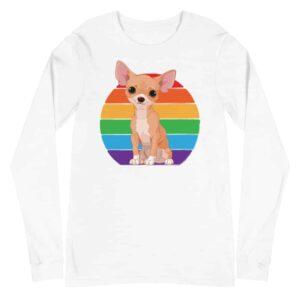 Chihuahua LGBTQ Pride Long Sleeve Tshirt