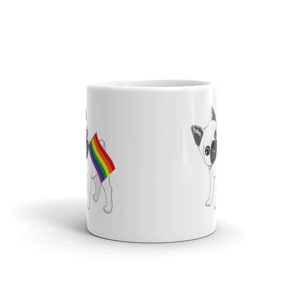 French Bulldog Rainbow Pride LGBT Coffee Mug