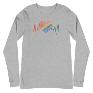 LGBTQ Heartbeat Gay Pride Long Sleeve Tshirt