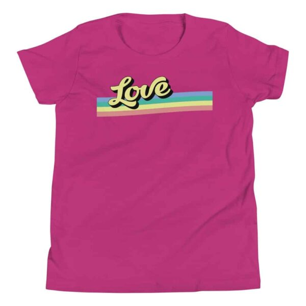 LGBTQ Pride Retro Love Kids Tshirt