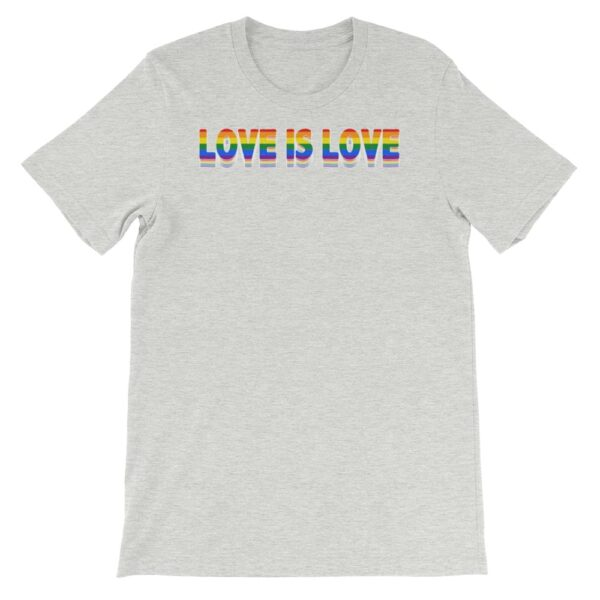 Love is Love LGBTQ Tshirt Grey