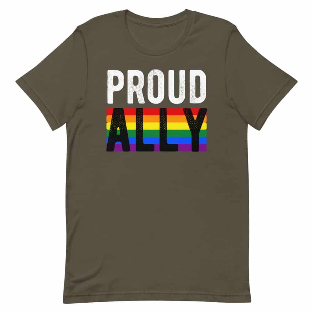 Proud Ally Gay Pride TShirt