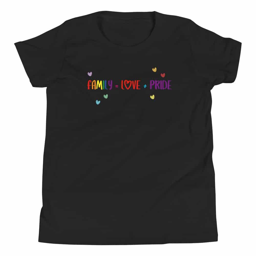 Family Love + Pride Kid Gay Pride TShirt