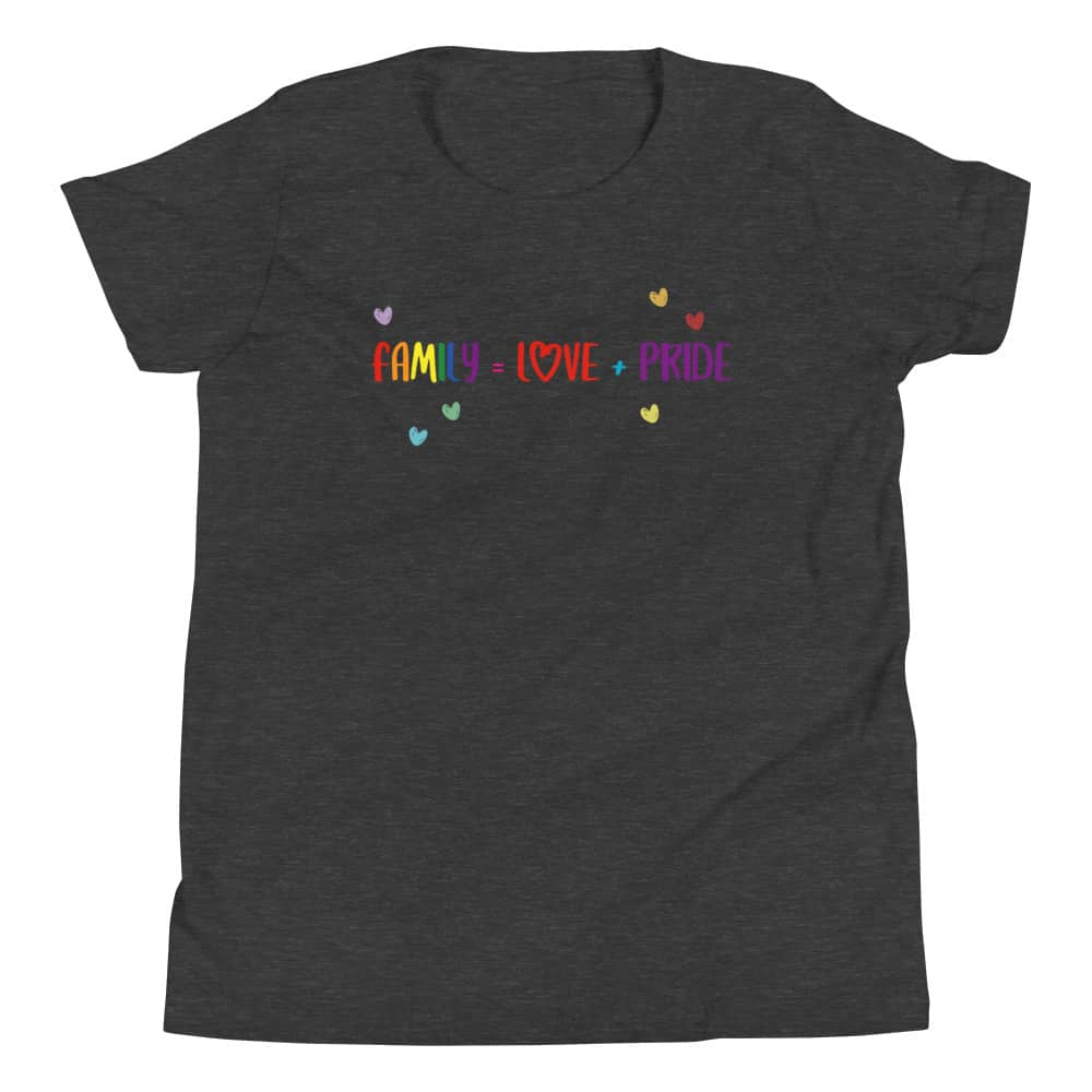 Family Love + Pride Kid LGBTQ Shirt